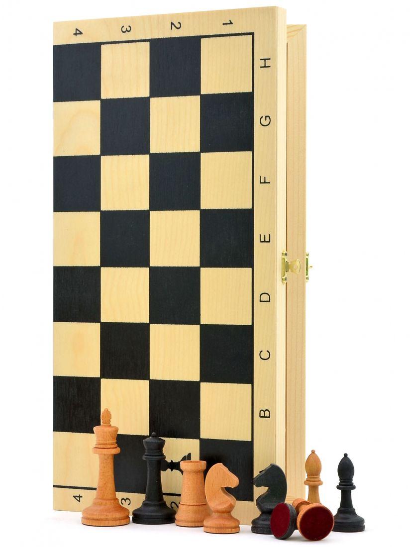Шахматы «Купеческие» утяжелённые фигуры тёмная клетка