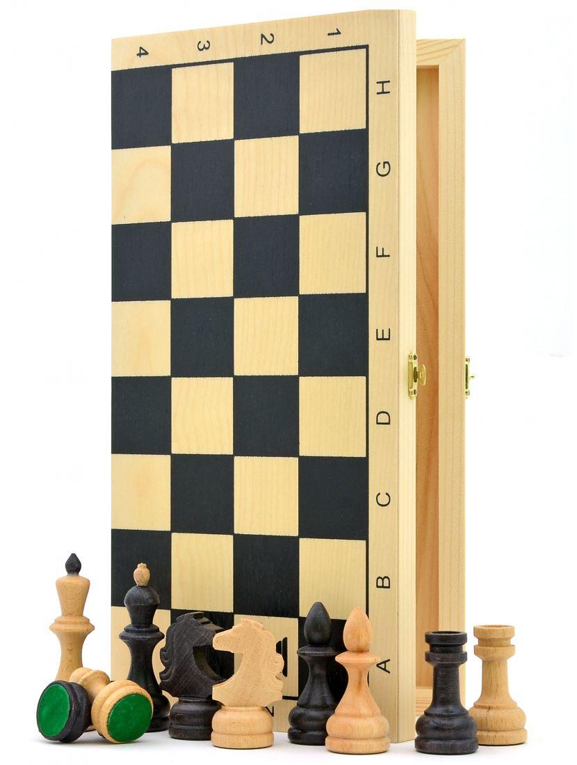 Шахматы «Славянские» темная клетка фигуры из бука