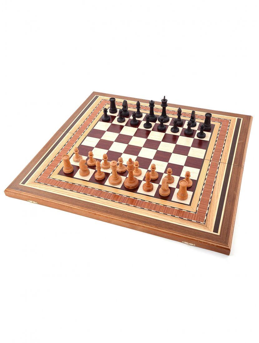Шахматы + нарды + шашки «Восьмиклинка» 3 в 1