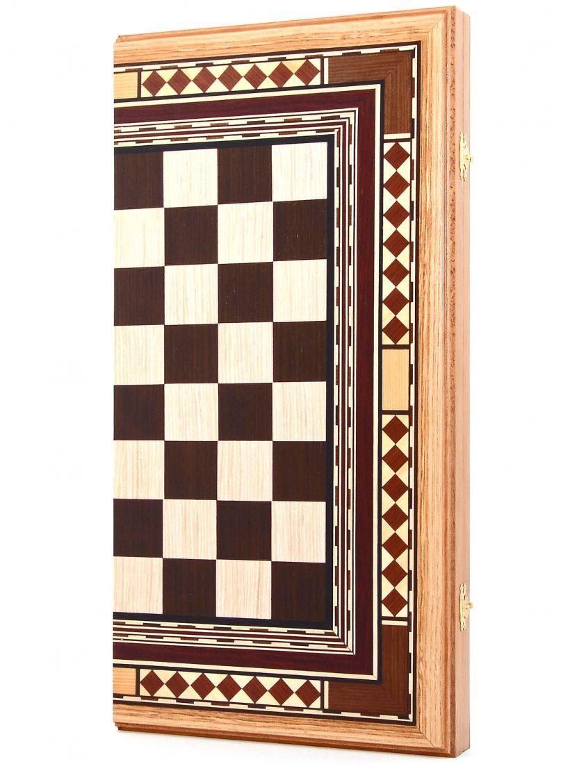 Нарды + шахматы + шашки «Восьмиклинка» шпон 3 в 1