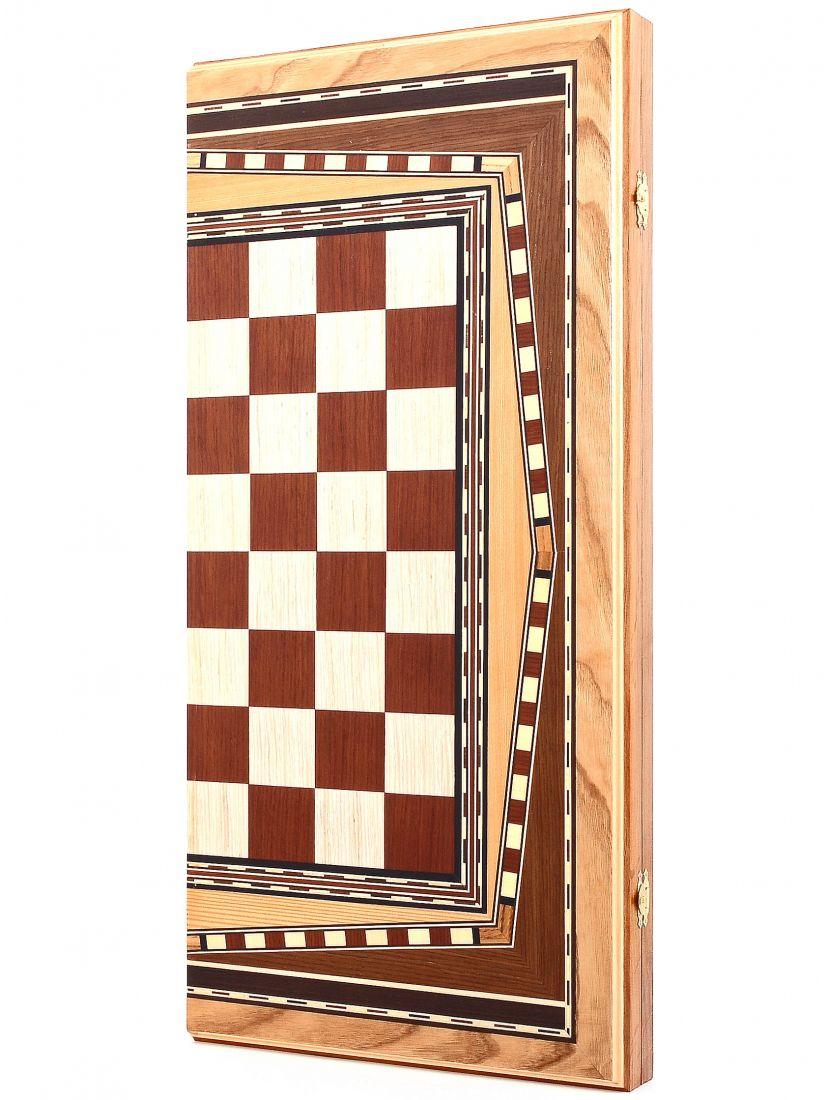 Нарды + шахматы + шашки «Шестиклинка» шпон 3 в 1