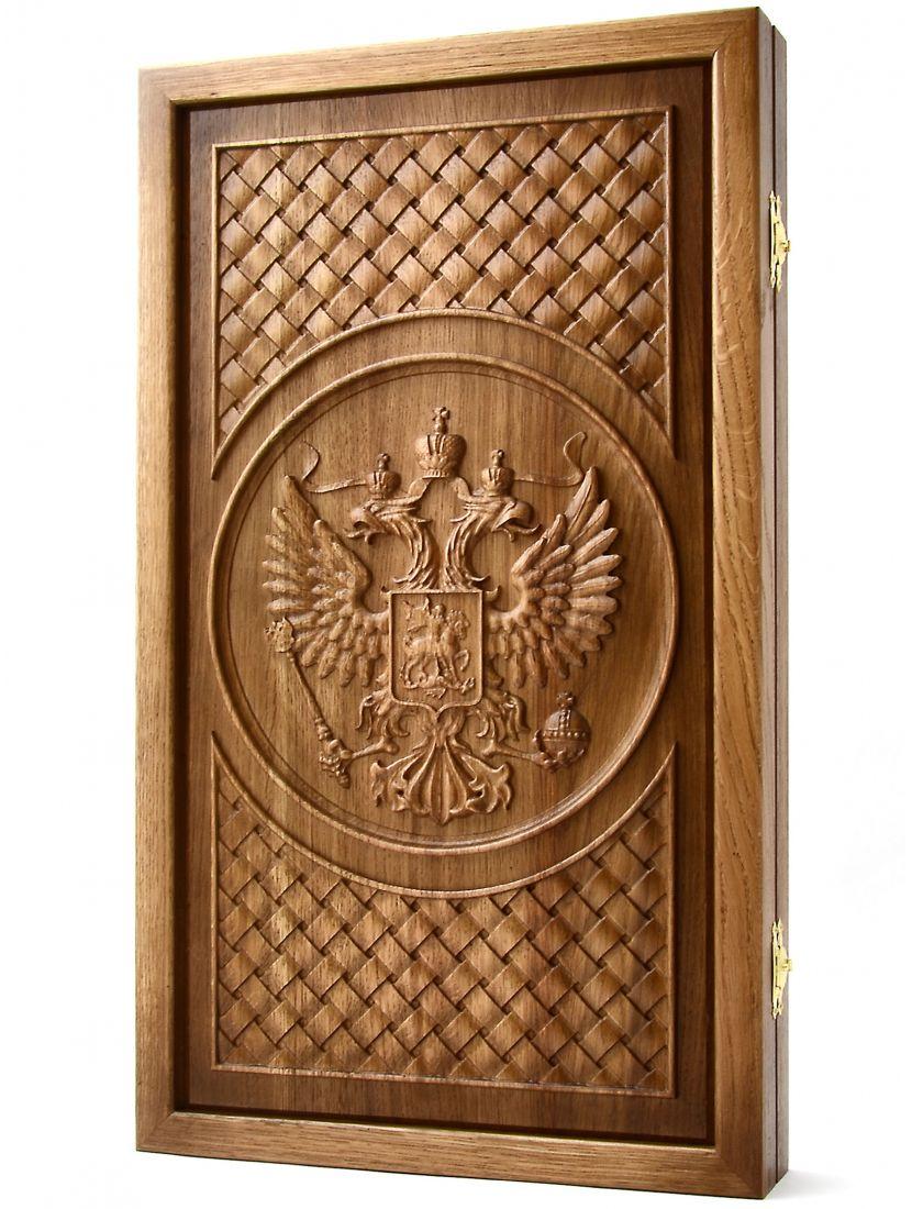 Нарды «Герб России» (патина)