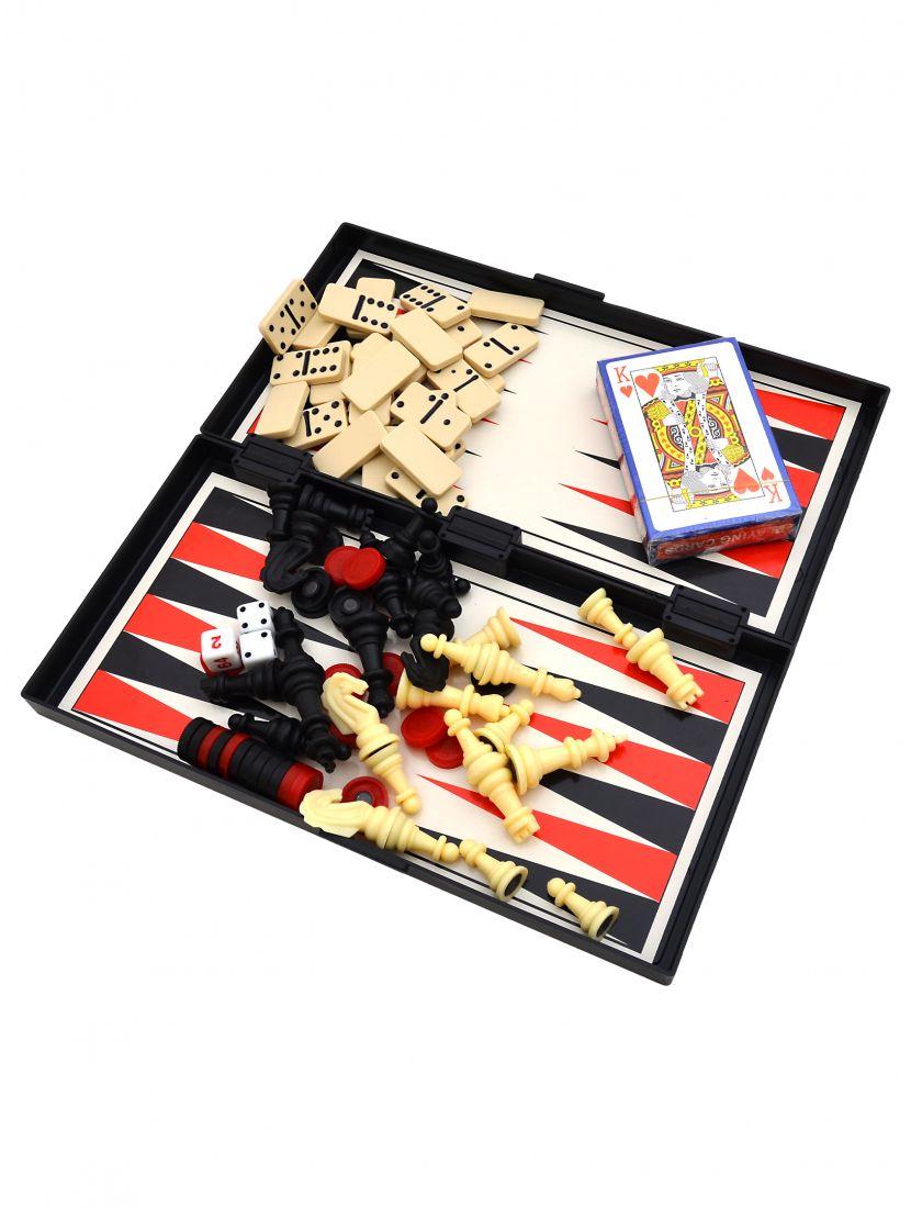 Игра 5 в 1 (шашки, шахматы, нарды, карты, домино)