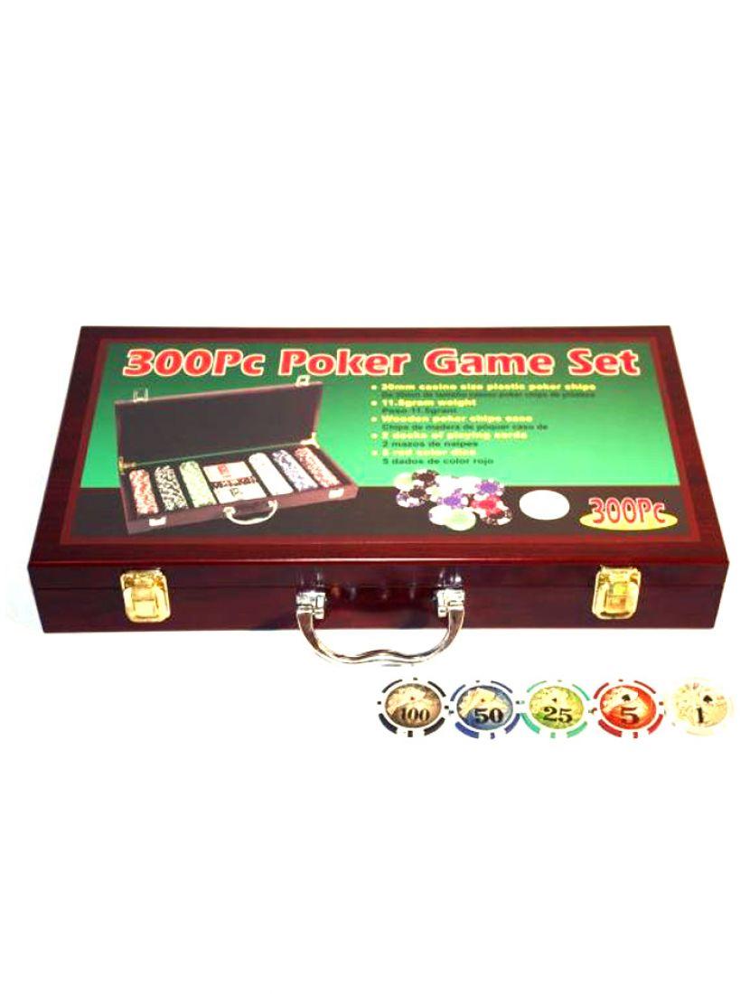 Покер «Wood» 300 фишек