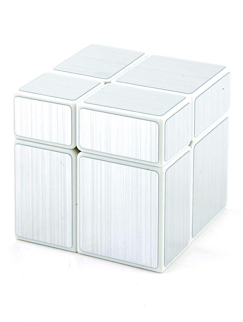 Кубик зеркальный «Mirror» белый-серебряный 2x2