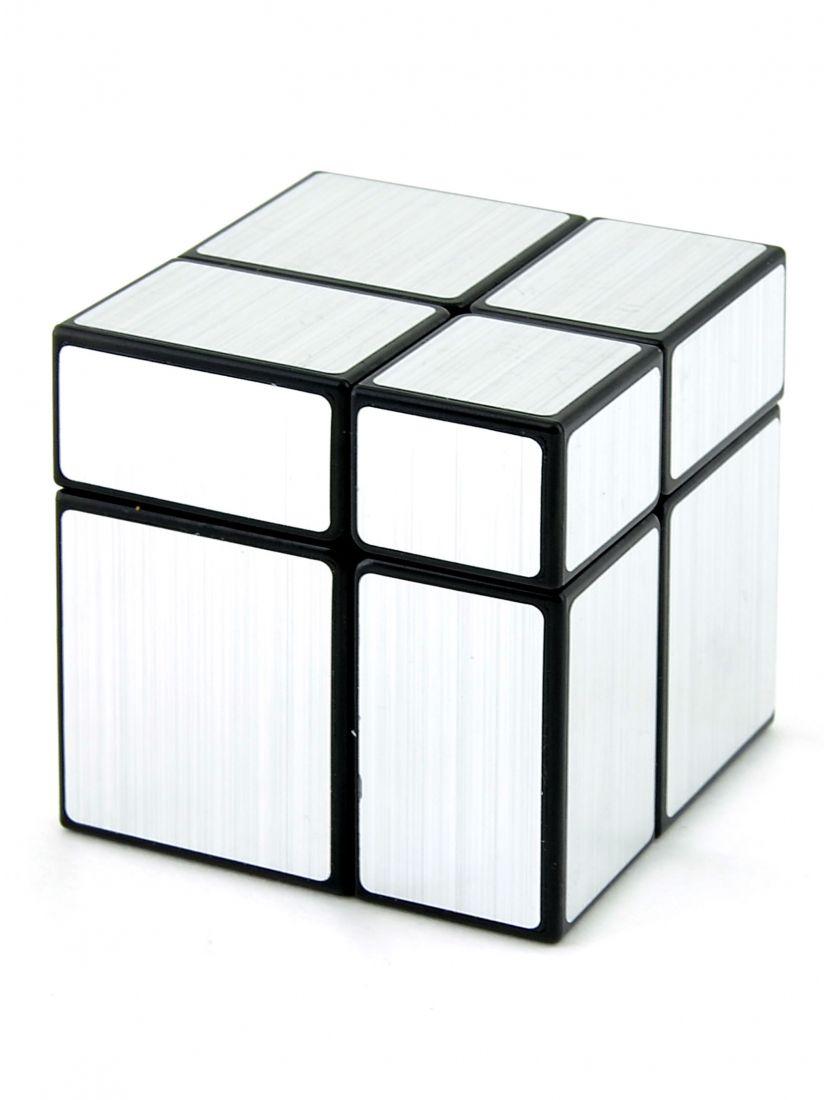 Кубик зеркальный «Mirror» чёрный-серебряный 2x2
