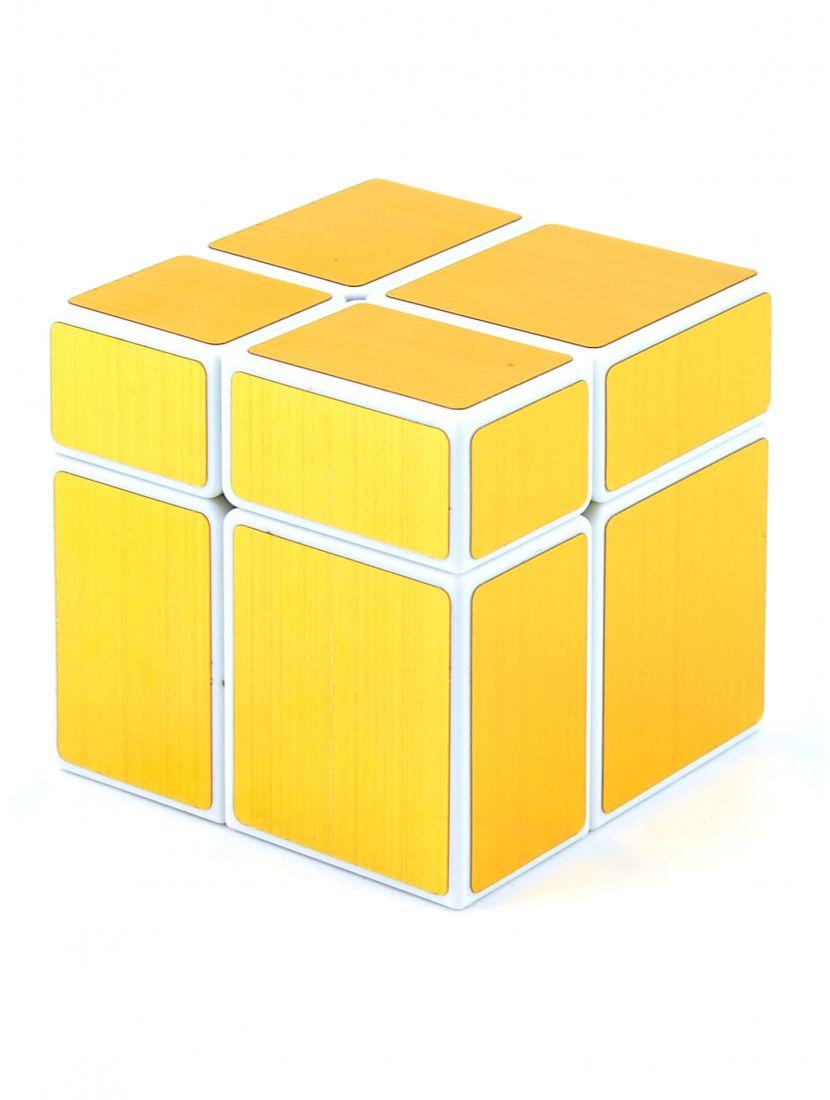 Кубик зеркальный «Mirror» белый-золотой 2x2