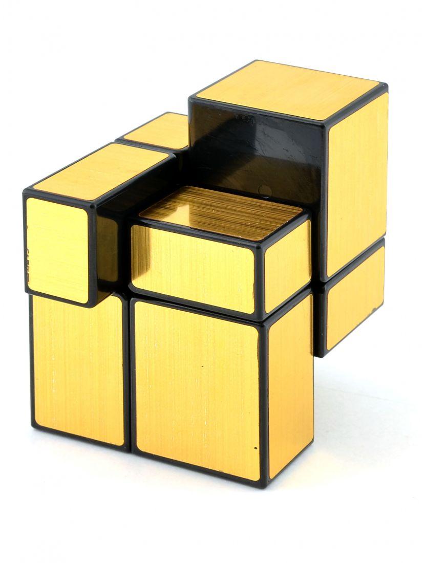 Кубик зеркальный «Mirror» чёрный-золотой 2x2