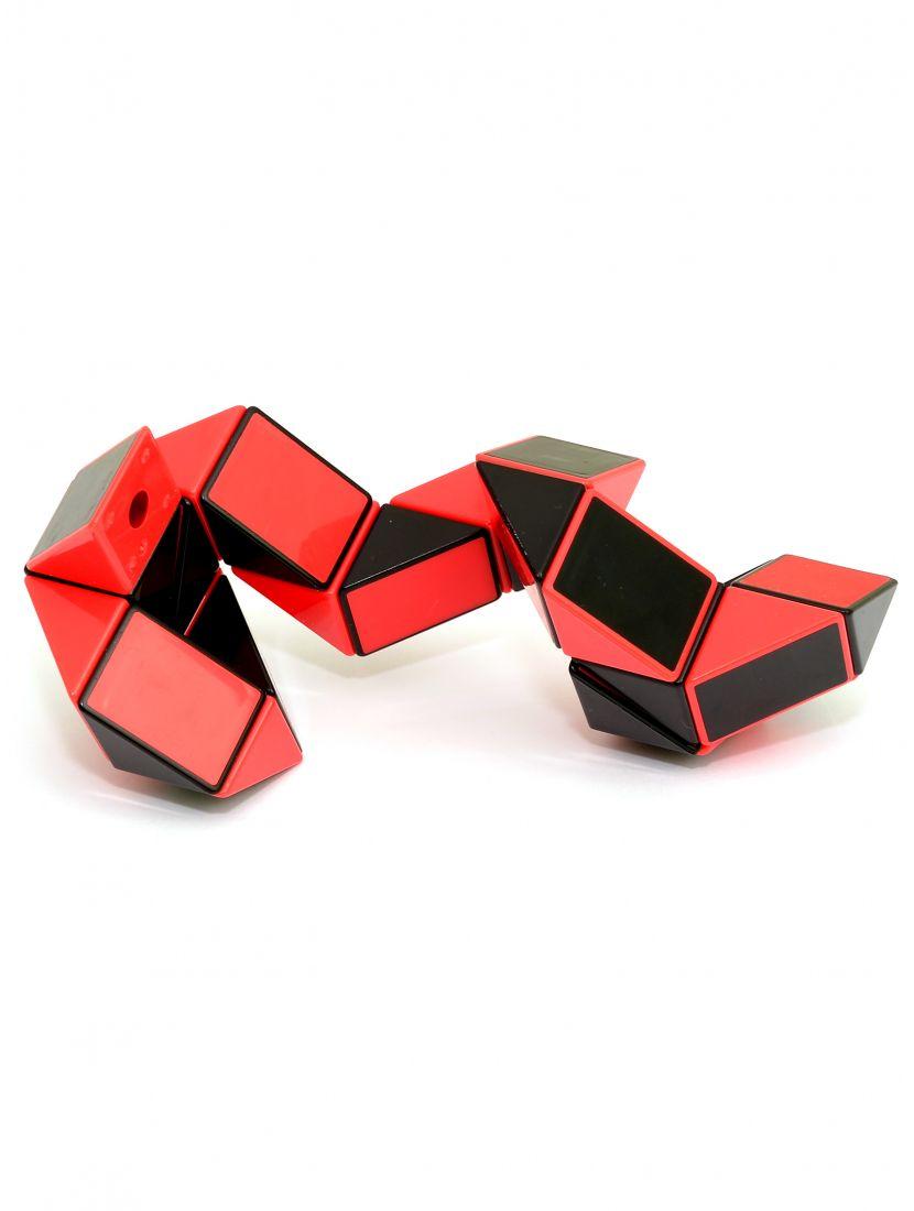 Головоломка «Змейка» 24 элемента чёрно-красная