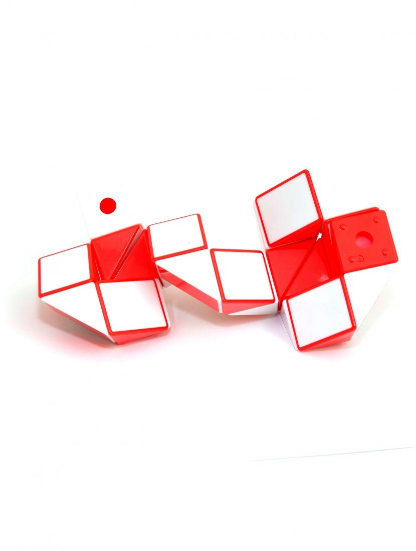 Головоломка «Змейка» 24 элемента красно-белая