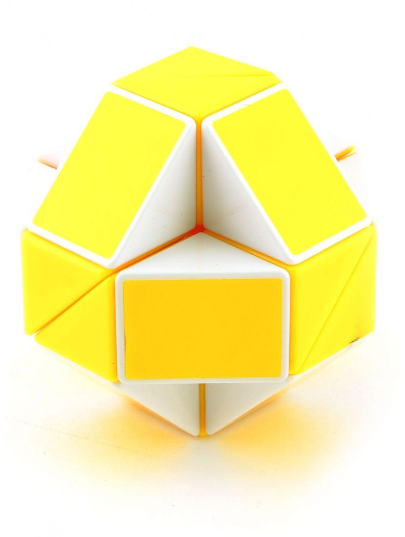 Головоломка «Змейка» 24 элемента жёлто-белая