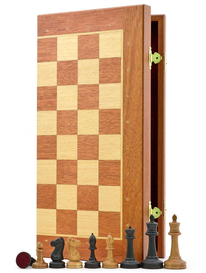 Шахматы «Стаунтон махагон» доска панская