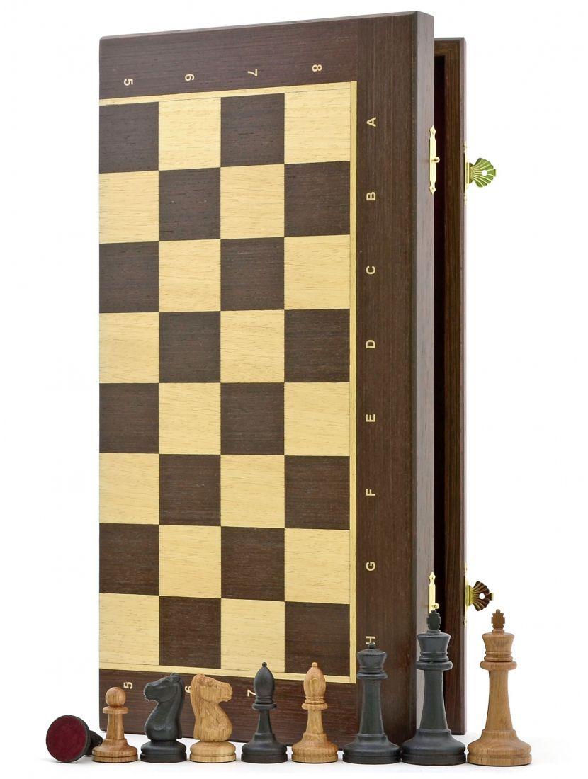 Шахматы «Стаунтон венге» доска панская