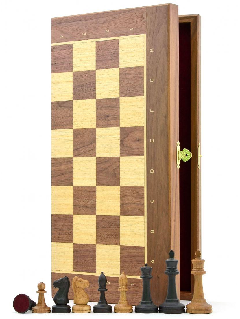 Шахматы «Стаунтон орех» доска панская