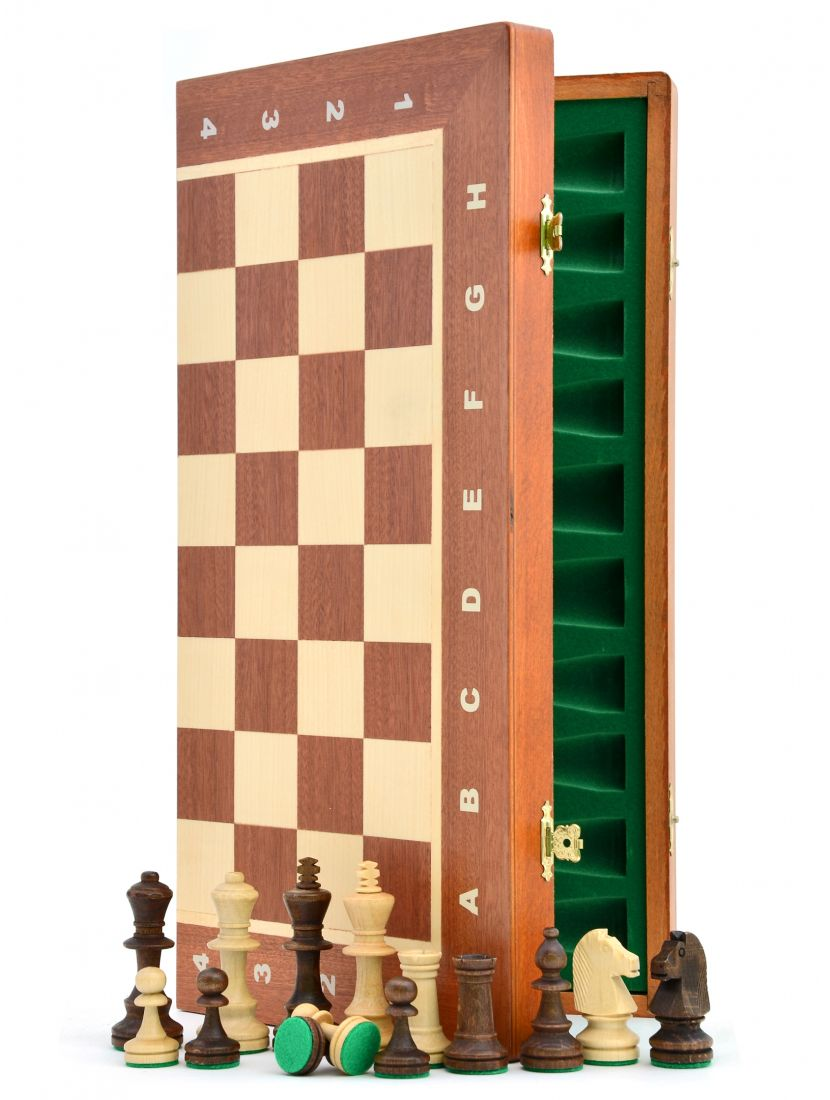 Шахматы «Торнамент-4» цвет махагон
