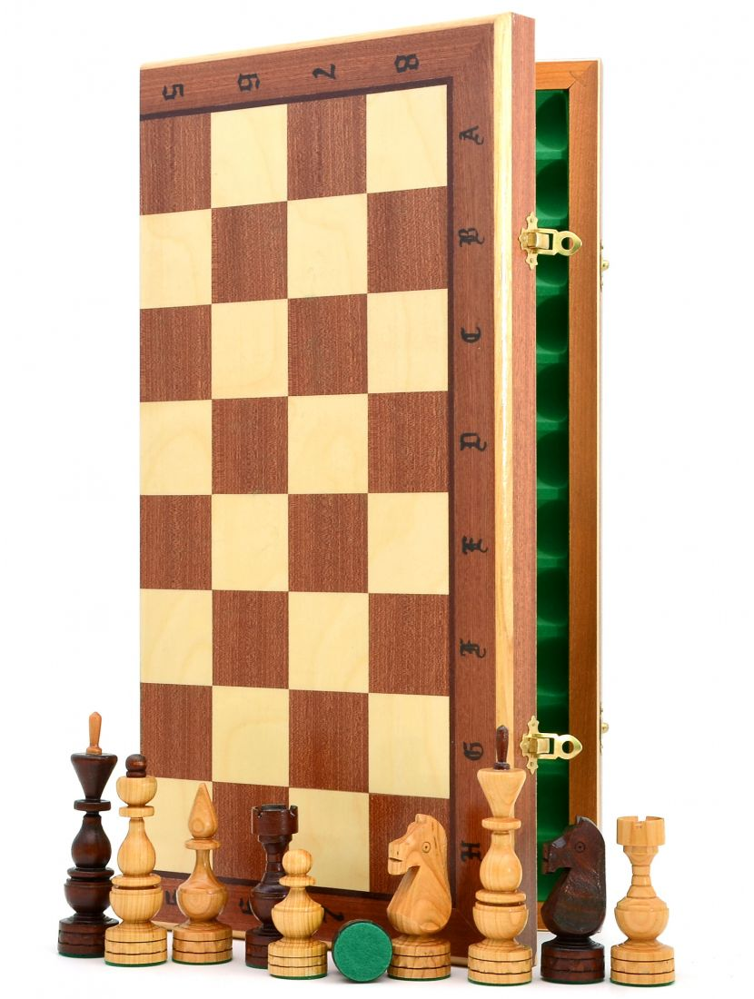 Шахматы «Дебют» цвет махагон