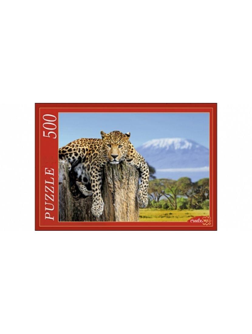 Пазл «Леопард и вулкан» 500 элементов