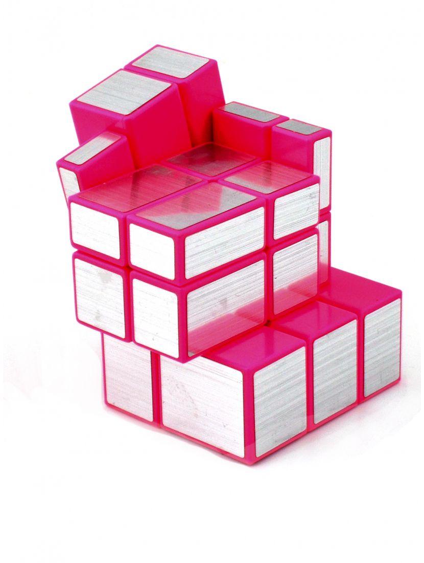 Кубик зеркальный «Ice Qilin Mirrior» серебряный с розовым