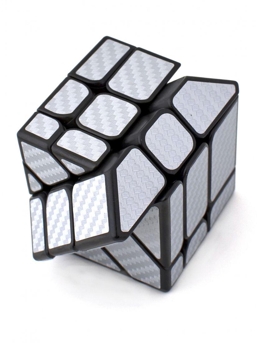Кубик Фишера зеркальный «Carbon fibre Fisher mirrior cube» серебристый.