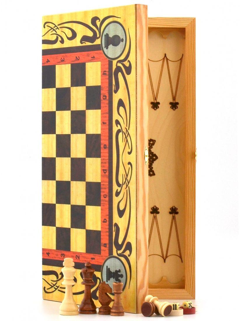 Нарды + шахматы + шашки «Статус»