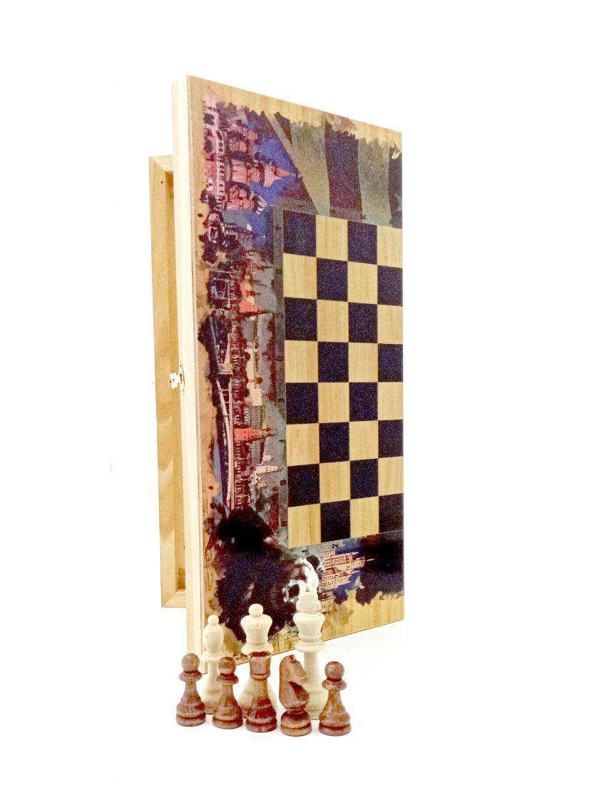 Нарды + шахматы + шашки «Россия - Америка»