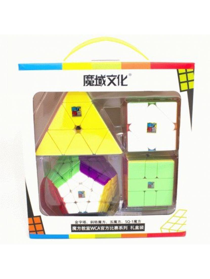 Подарочный набор кубиков Рубика «WCA shaped cube set MoYu»