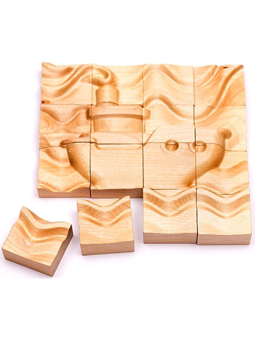 Деревянный пазл с 3D эффектом «Пароход» 16 элементов