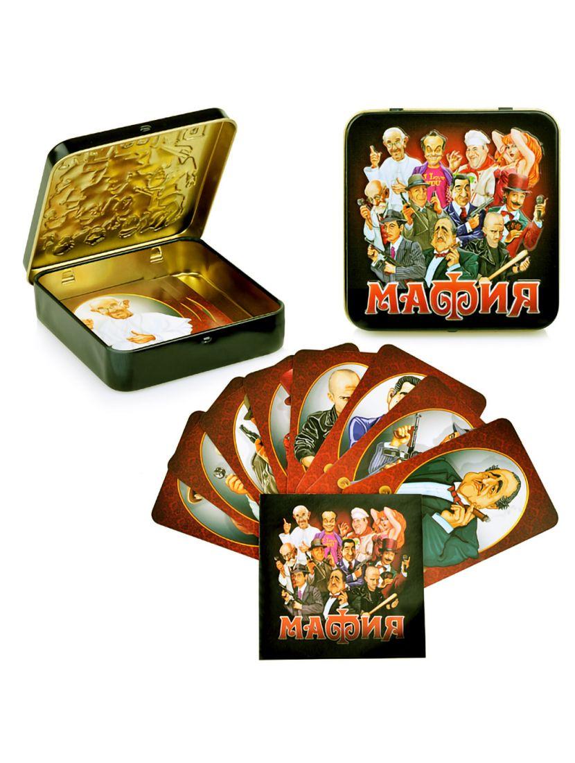 Настольная игра «Мафия» в жестяной коробке