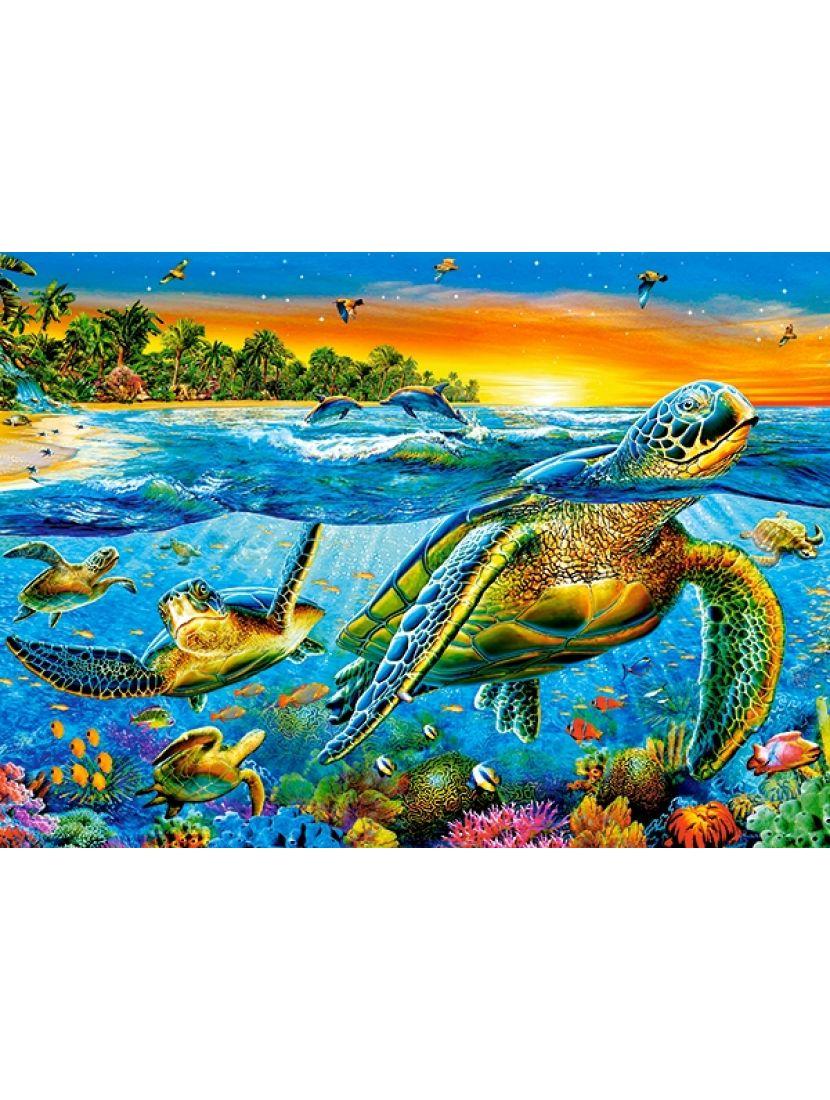 Пазл   «Морские черепахи» 180 элементов