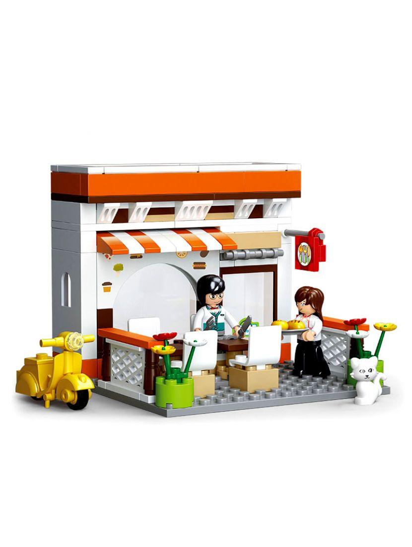 Конструктор «Город. Летнее кафе» (134 детали, 2 фигурки)