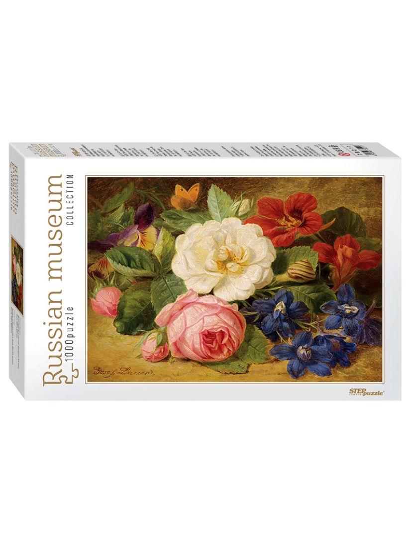 Пазл «Букет цветов с улиткой» 1000 элементов