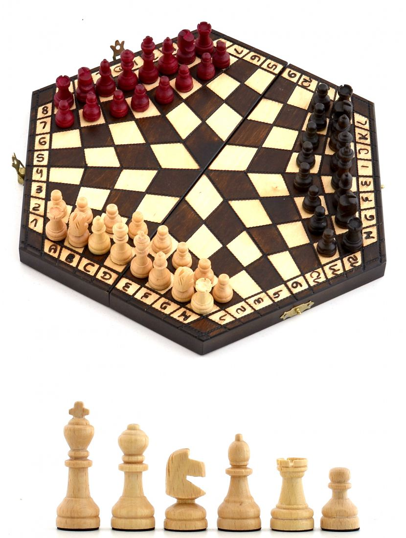 Шахматы «На троих» маленькие