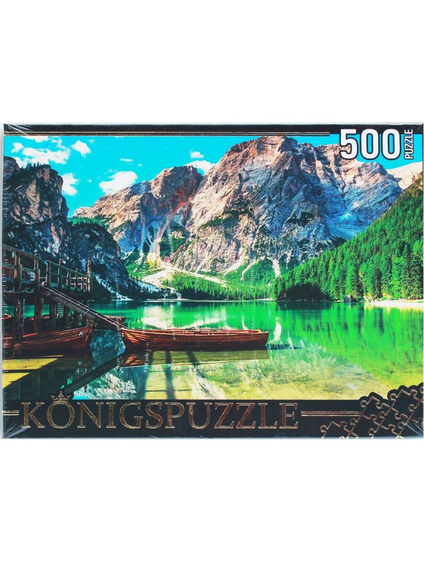 Пазл «Италия. Альпийское озеро Брайес» 500 элементов