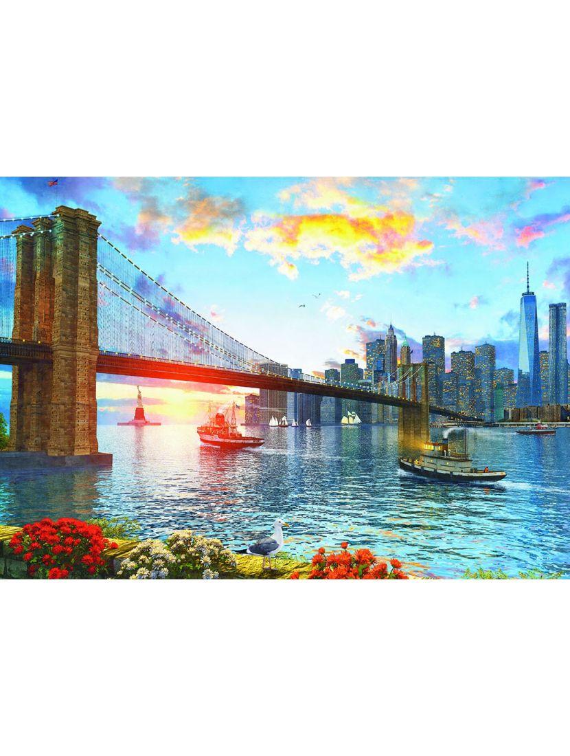 Пазл «Доминик Дэвисон. Бруклинский мост» 500 элементов