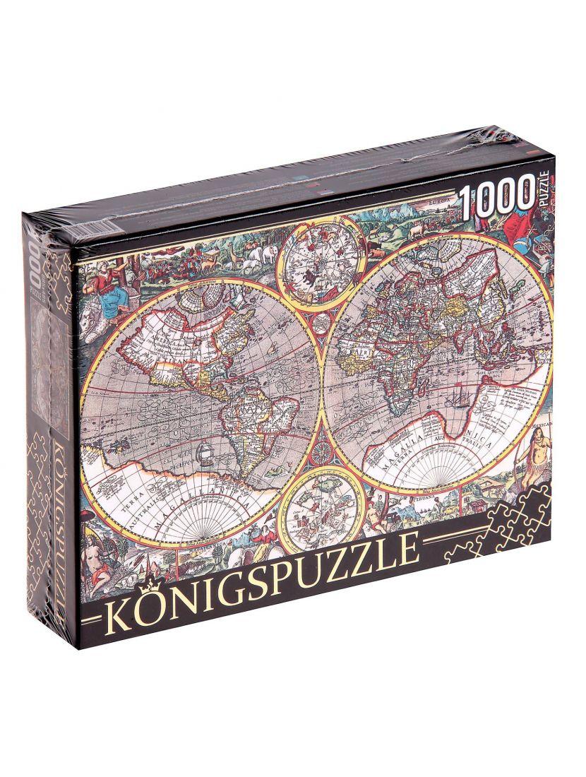 Пазл «Древняя карта мира» 500 элементов