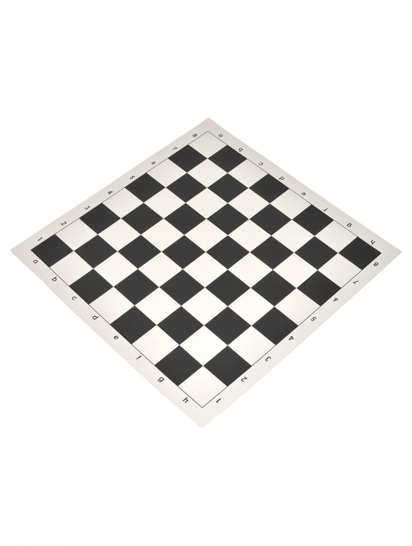 Шахматная доска «Виниловая» чёрно-белая средняя
