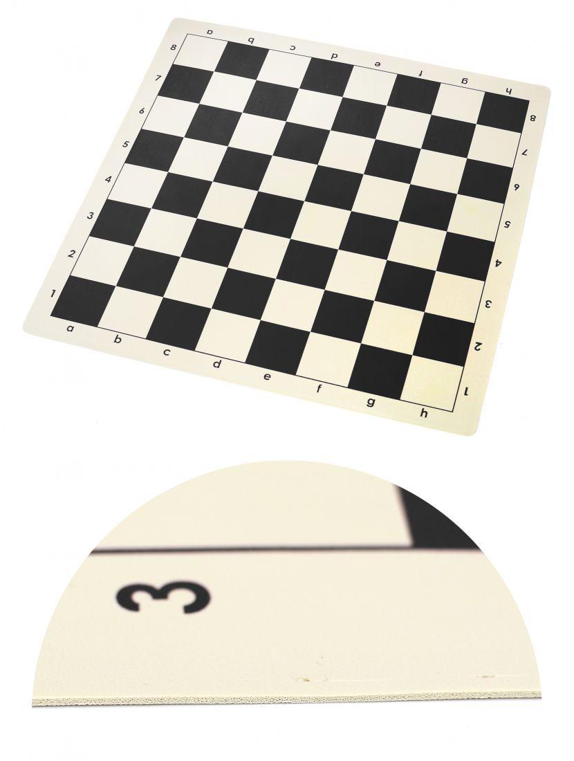 Шахматная доска «Виниловая» чёрно-белая 50 x 50 см