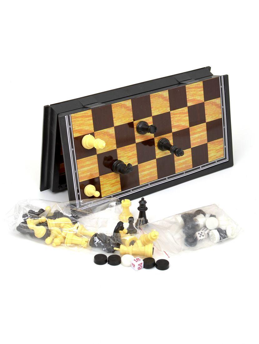 Нарды+ шахматы + шашки 3 в 1 «Магнитные» 23 x 23 см
