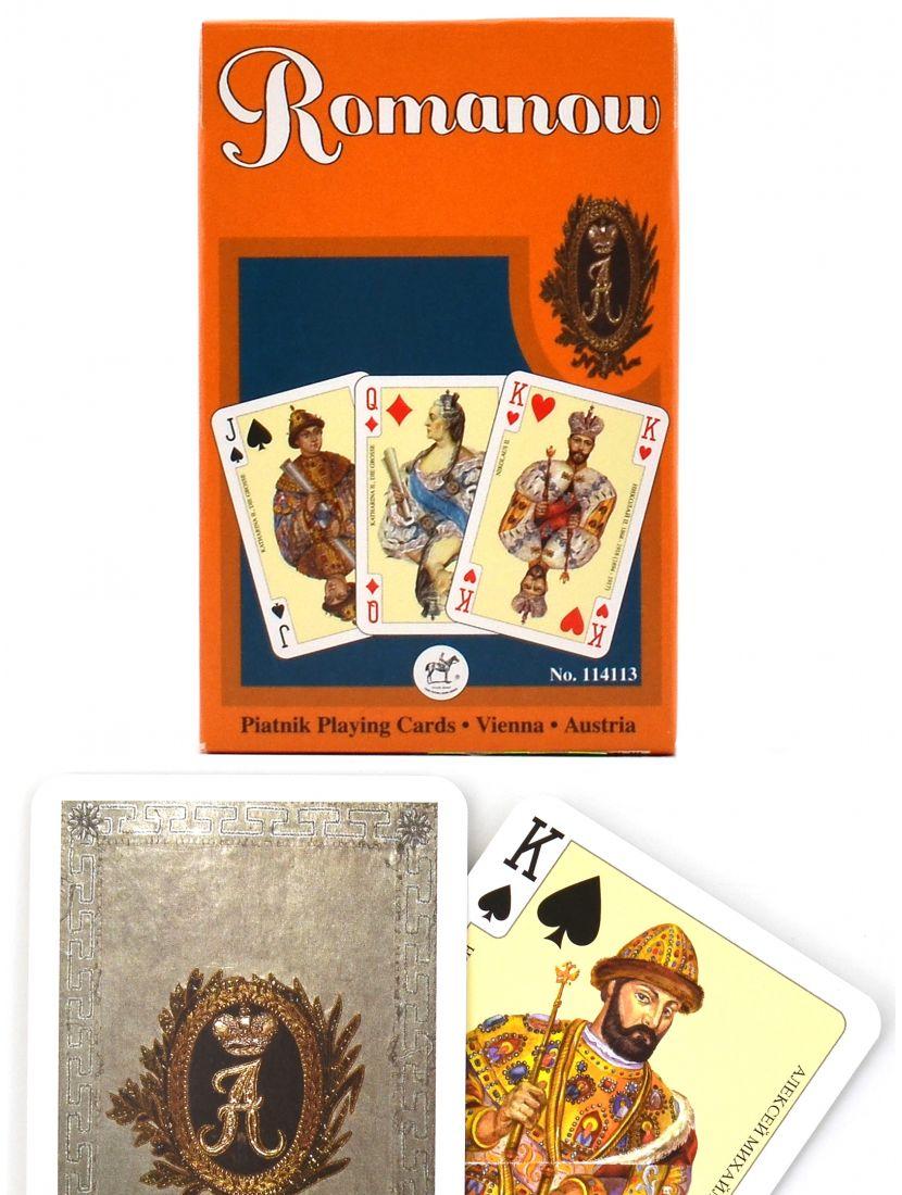 Карты игральные «Династия Романовых» серые Piatnik