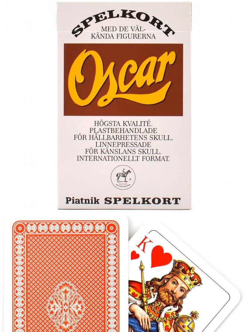 Карты игральные «Oscar» красные Piatnik