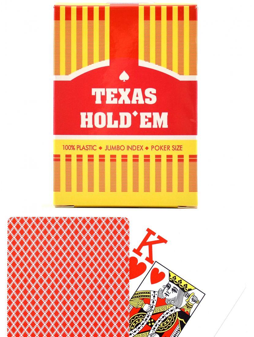 Карты «Texas Hold'em»  Jumbo index красные