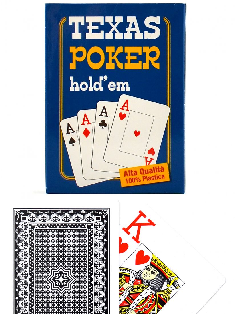 Карты «Panorama Texas Hold'em»  Jumbo index чёрные