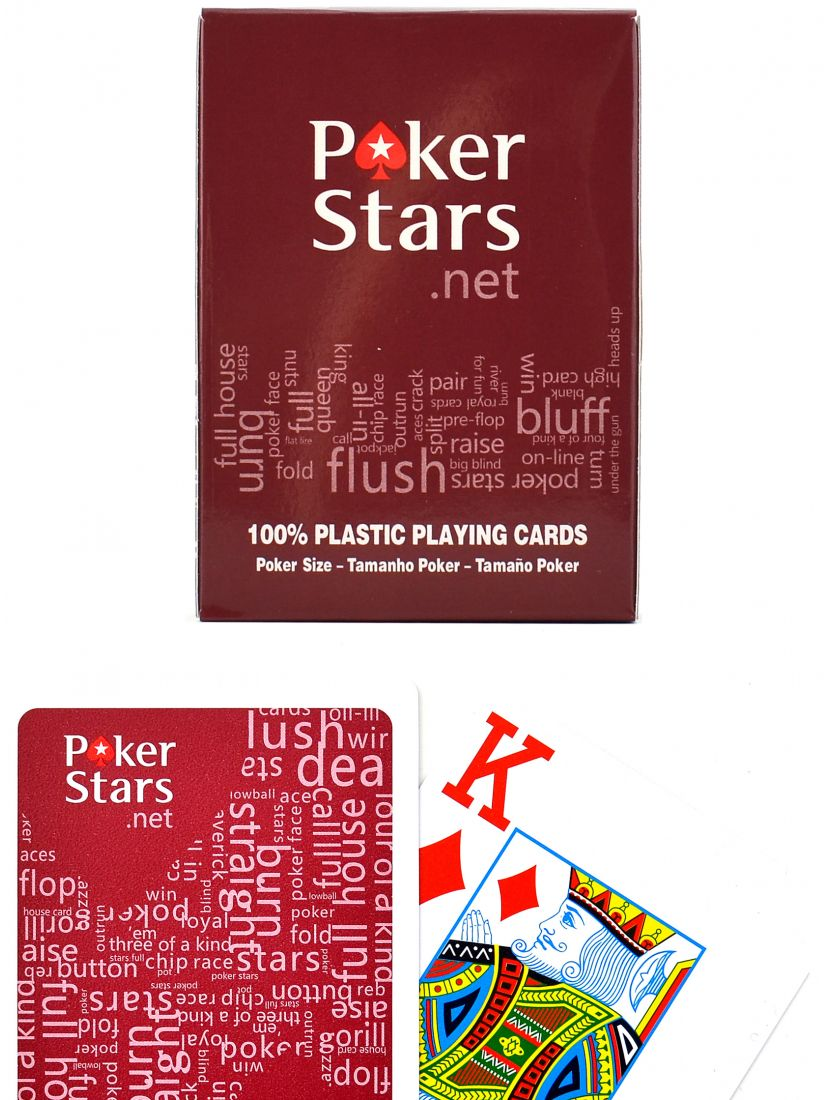 Карты «Poker stars» красные