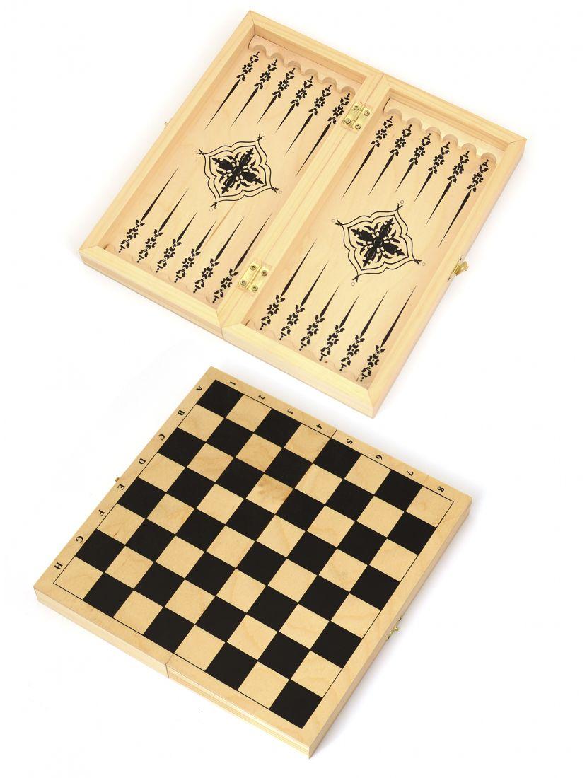 Доска 3 в 1 шахматы, шашки, нарды «Обиходная»