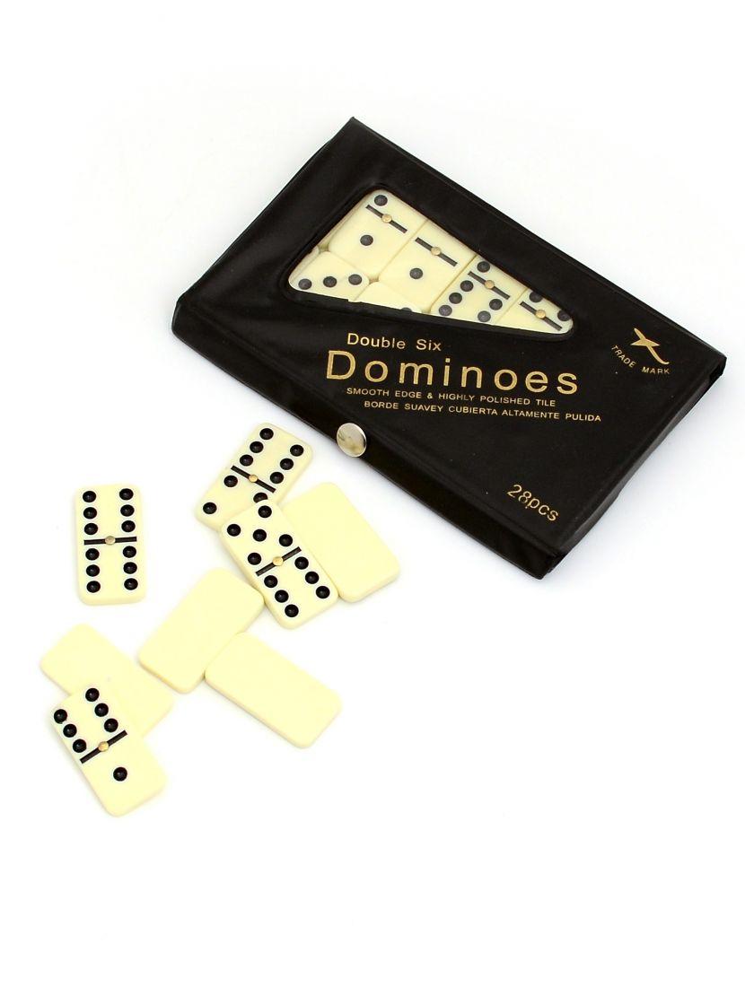 Домино 6 точек в чёрном футляре V.2