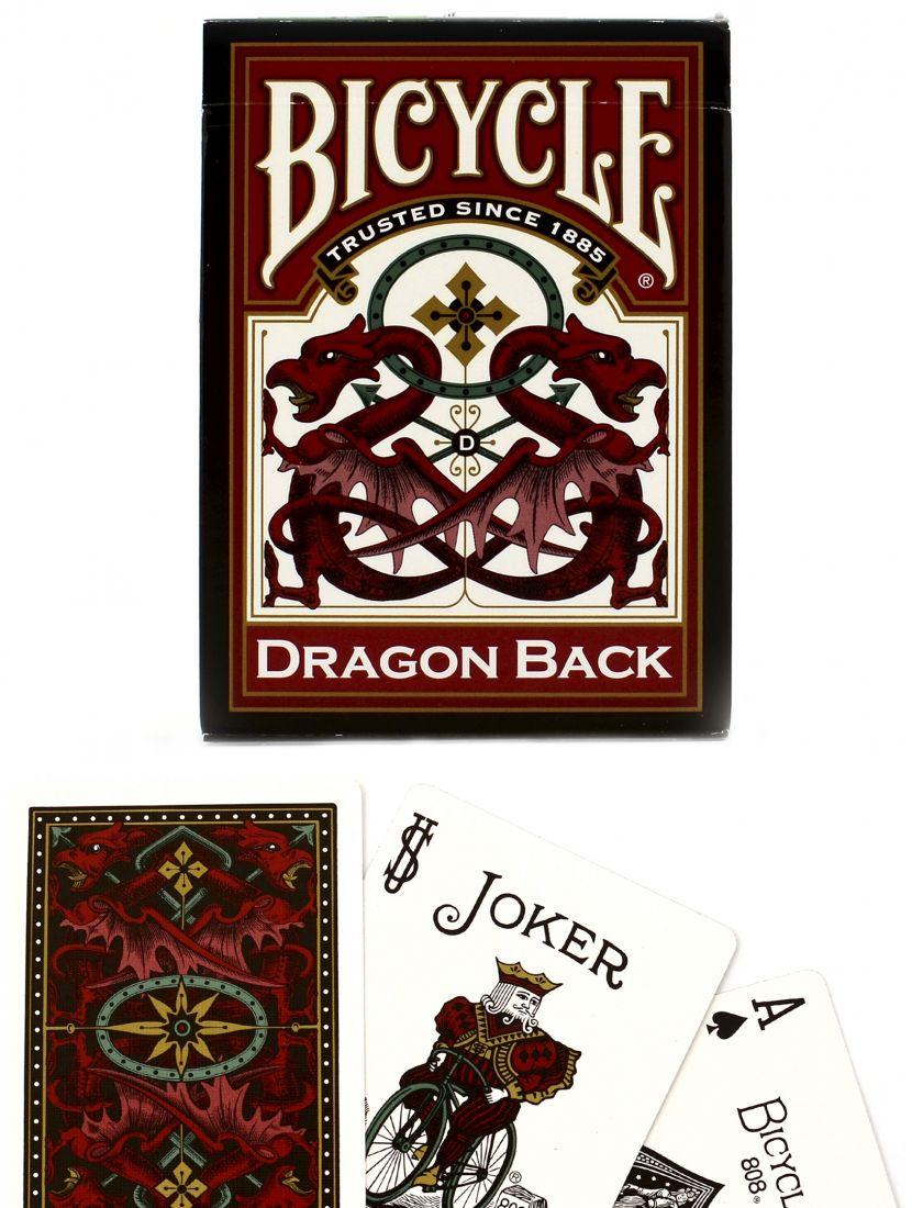 Карты «Bicycle Dragon» красные