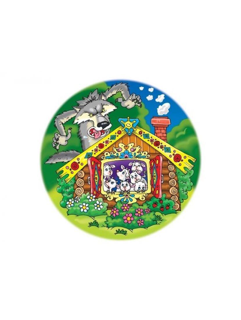 Пазл  круглый мягкий  «Волк и семеро козлят» 30  элементов