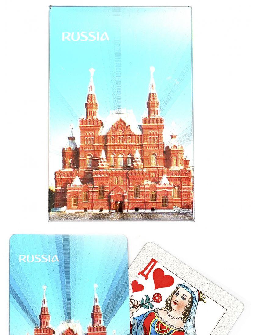 Карты игральные «Россия серебряная II» сокращенная колода (36 карт)