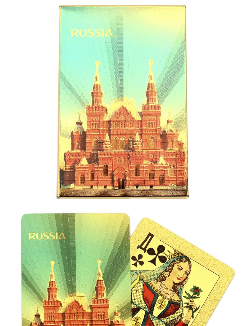Карты игральные «Россия золотая II» сокращенная колода (36 карт)