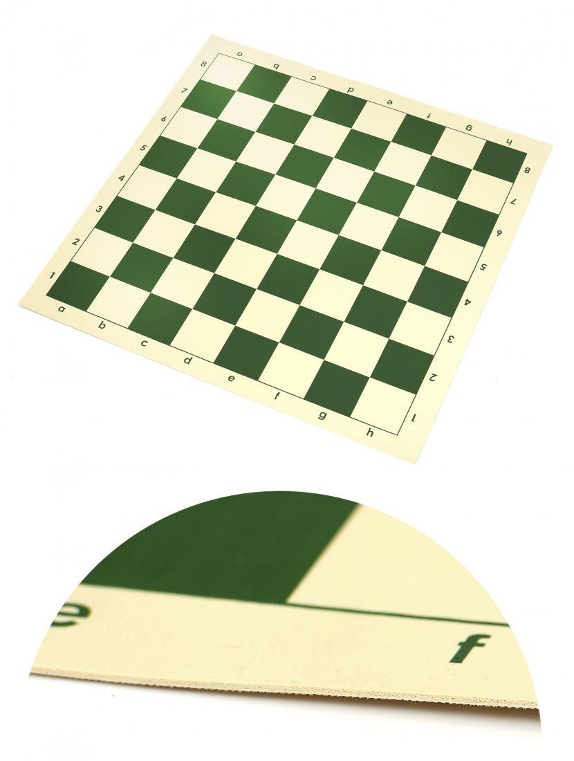 Шахматная доска «Виниловая» зелёно-белая